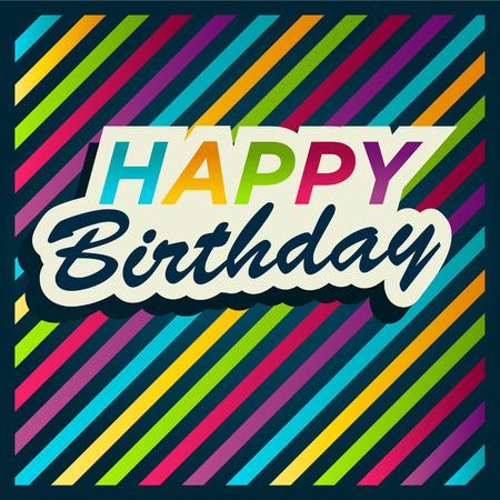 festive: Birthday Greeting Card