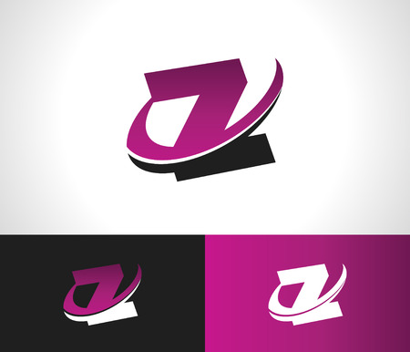 Swoosh Alphabet logo icon with the letter Z