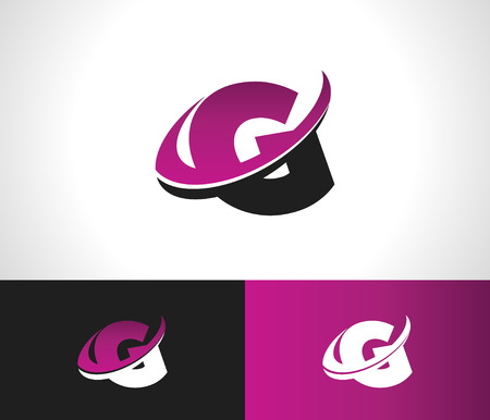 Swoosh Alphabet logo icon with the letter G