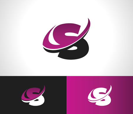 s curve: Swoosh Alphabet logo icon with the letter S
