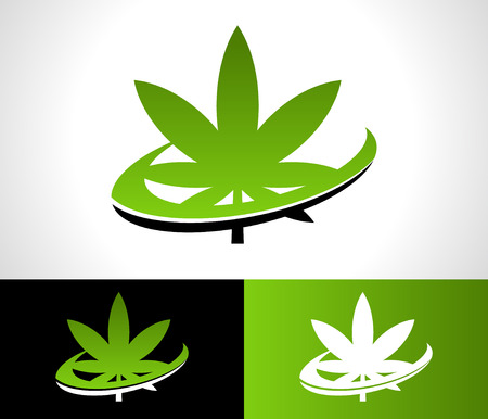 weeds: Swoosh Cannabis Logo Icon