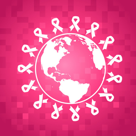 breast cancer awareness ribbon: Breast Cancer Awareness Illustration