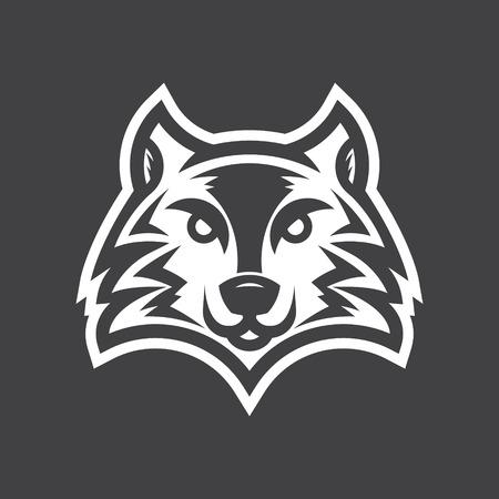 Wild wolf logo illustration