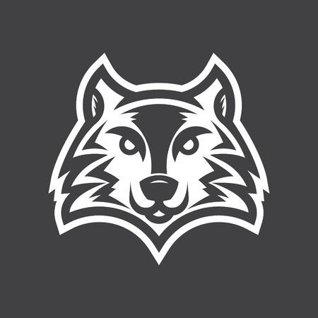 simple logo: Wild wolf logo illustration