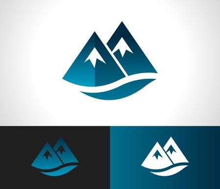 montagna: Rocky Mountain logo design icon Vettoriali