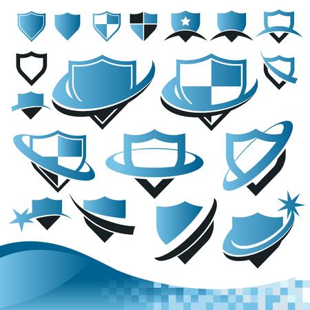 Collection de protection de la sécurité bouclier icônes