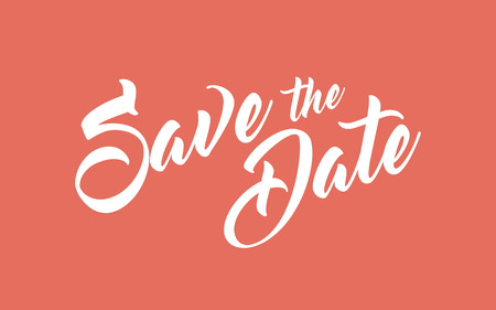 date: Save the Date hand lettering calligraphy
