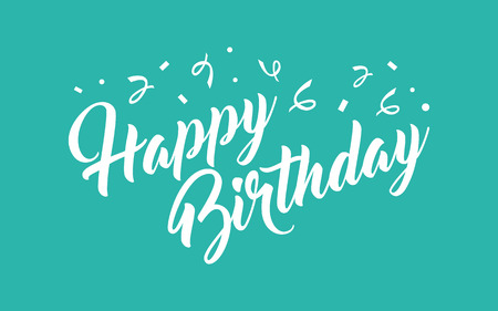 scripts: Happy Birthday hand lettering calligraphy