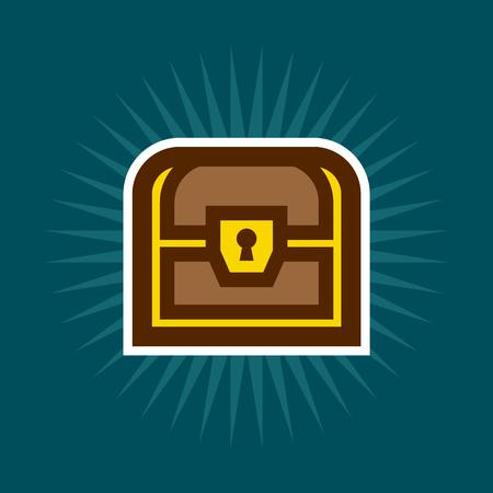 Simple Treasure Chest Icon Illustration