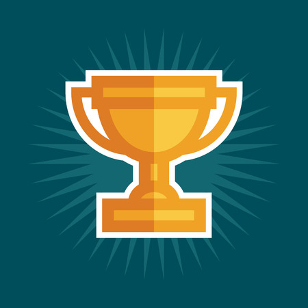 Simple Award Trophy Icon.