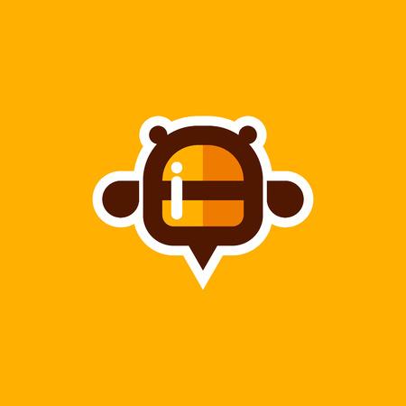 Honey vector bee logo design icon