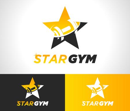 Gym fitness icon design.