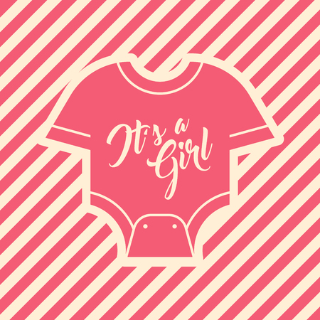 Pink Baby Shower Invite Greeting card