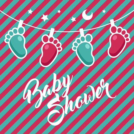 Baby Shower Greeting card design. Illustration