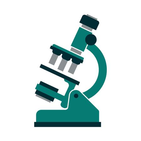 Microscope illustration isolated on white Stok Fotoğraf - 89471968