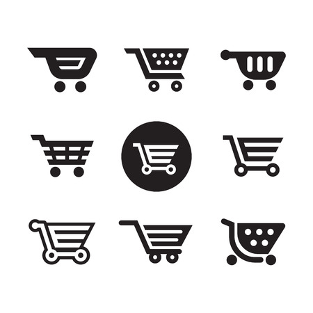 Set of shopping cart icons 向量圖像
