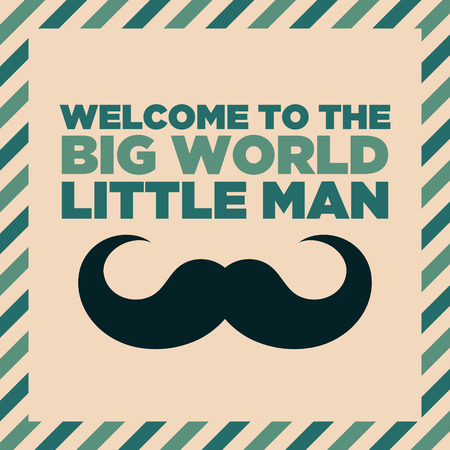 Welcome to the big world baby boy shower greeting invitation card
