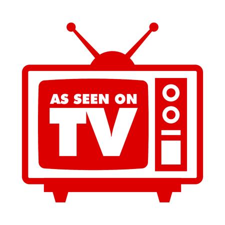 テレビで見られるようにレトロなテレビアイコン