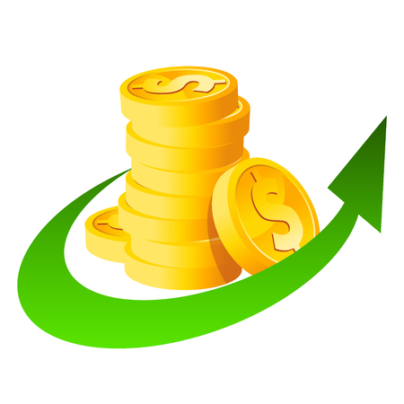 Arrow Stack Dollar Coins