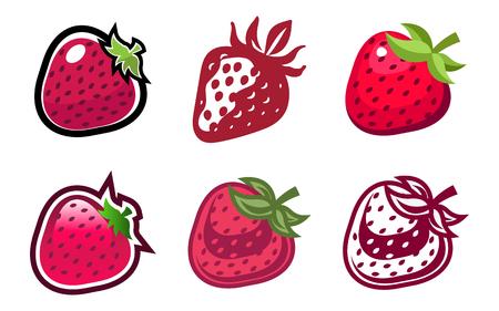 Strawberry design icons