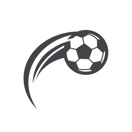 Soccer football logo icon with swoosh design
