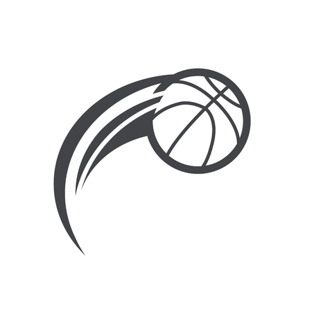 Soccer basketball logo icon with swoosh design