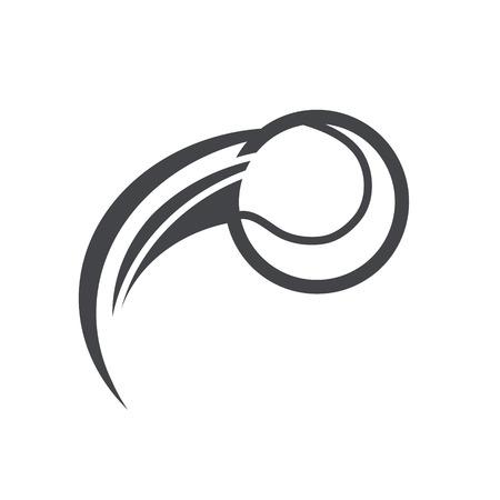 Soccer baseball logo icon with swoosh design