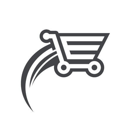 Fast shopping cart icon.