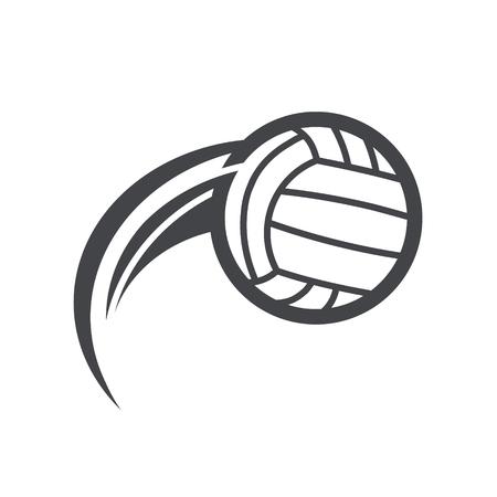 Swoosh volleyball icon. Ilustração