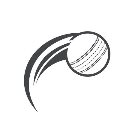 Swoosh cricket bal pictogram. Stock Illustratie