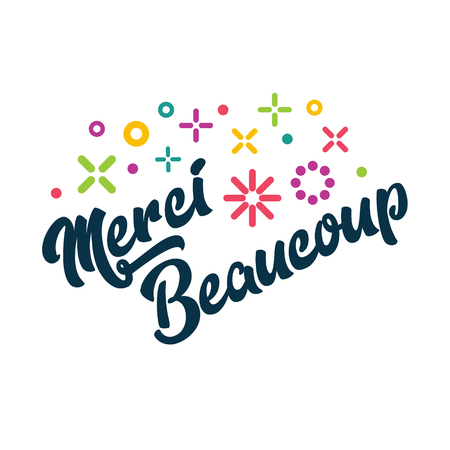 Merci Beaucoup - French Thank you Greeting Card