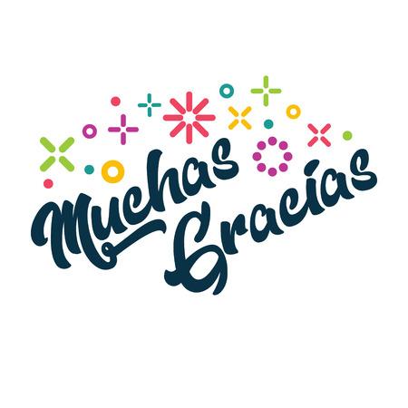 Muchas Gracias - Spanish Thank you Greeting Card