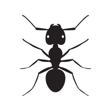 Zwarte mier insect silhouet illustratie Stock Illustratie