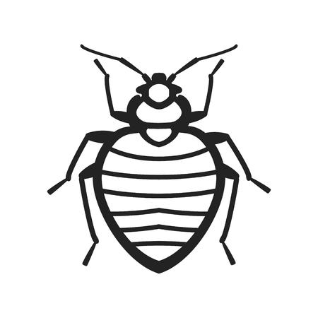 Bedbug insect illustration design Vettoriali