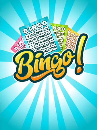 Illustration of bingo with game cards