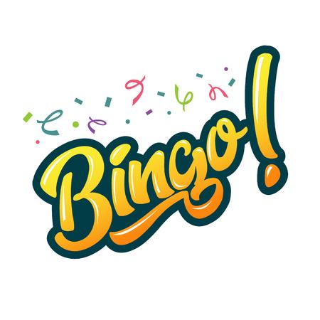Bingo game icon illustration for banner, poster, event. Illustration