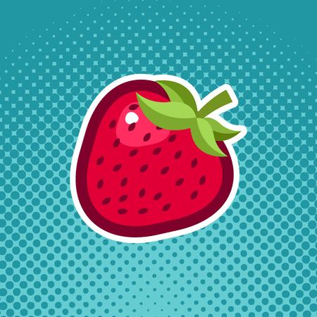 Strawberry fruit icon design Illustration