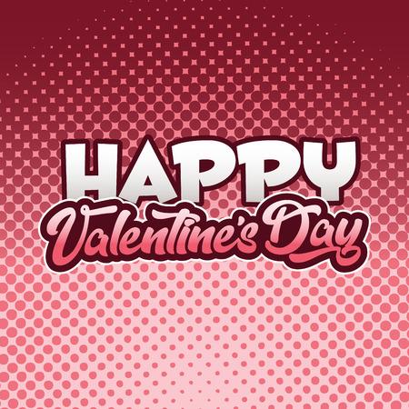 Happy valentines day card Illustration