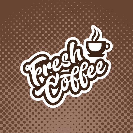 Fresh coffee banner illustration with coffee cup