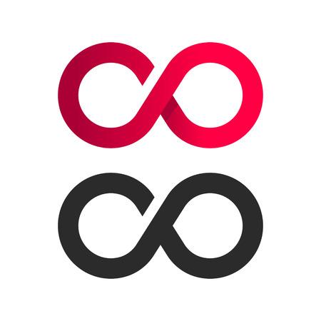 Infinite symbol logo icon Ilustrace