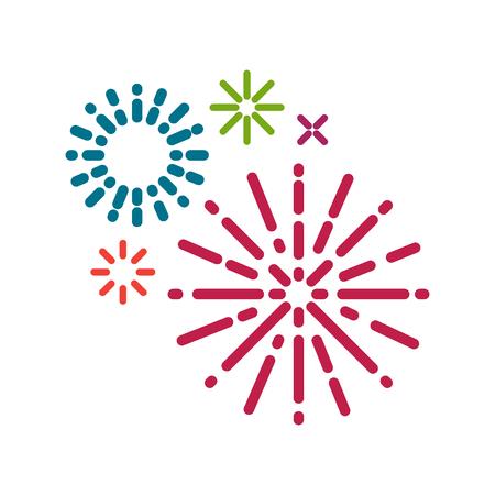 Simple firework background illustration