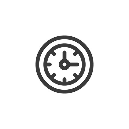 Simple outline of a wall clock icon.