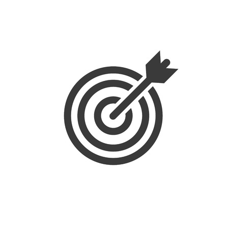 Simple outline target arrow icon symbol