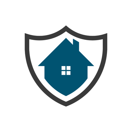 Shield security home logo icon