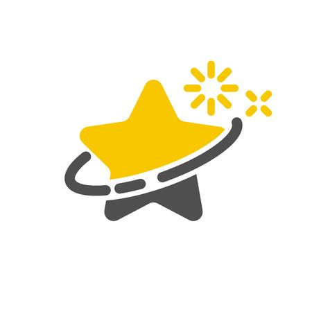 Star swoosh logo icon Illustration