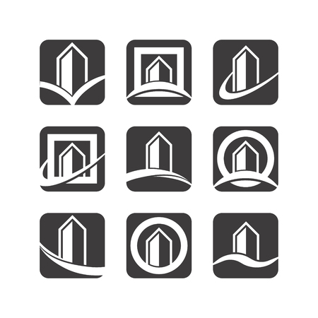 Building logo icons Illustration