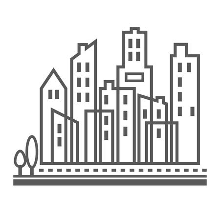Downtown urban city buildings