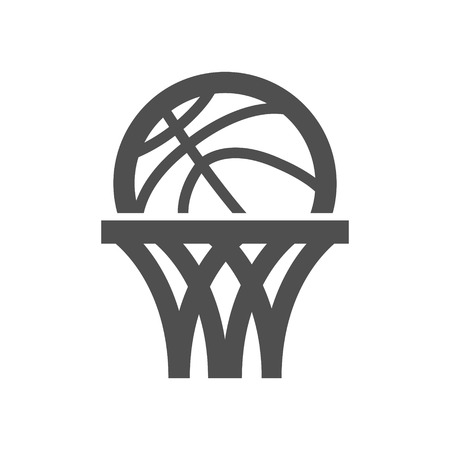 Basketball net icon. Illustration