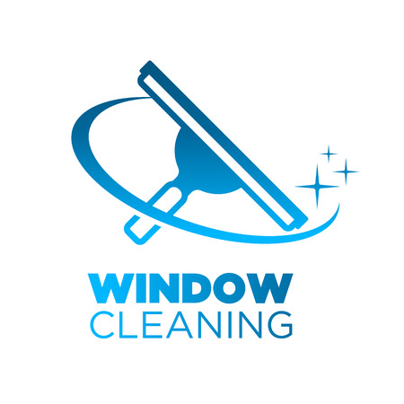 Window Washing Cleaning Squeegee logo Icon