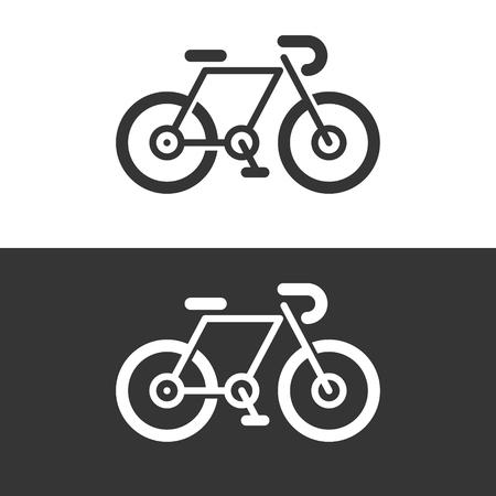 Bicycle bike icon logo symbol